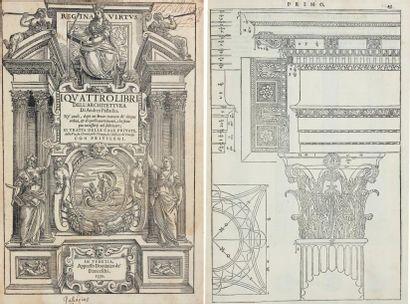 PALLADIO (Andrea) I quattro libri dell'Architettura di Andrea Palladio. Ne quali,...
