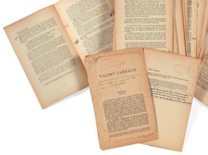 [LARBAUD]. JEAN-AUBRY (Georges) Valery Larbaud. [Sa Vie et son oeuvre. La Jeunesse...