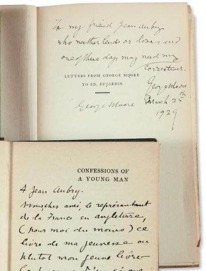 MOORE (George) Letters from George Moore to Ed. Dujardin 1886-1922. New-York, Crosby...
