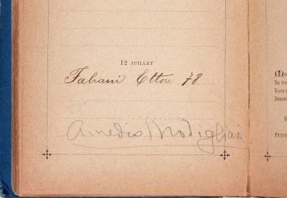MODIGLIANI Amedeo (1884-1920) Peintre et sculpteur italien. Pièce signée, 12° (16...