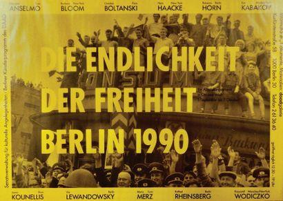 Ensemble de trois affiches d'exposition de...