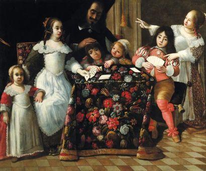 ATTRIBUÉ À GONZALES COQUES (1614-1684)