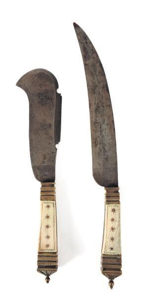 Fendereau, ou couteau à défaire, et couteau...