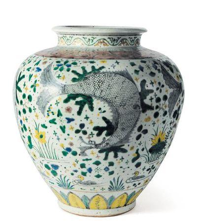 Vase Kutani, Japon, XVIIe siècle. H_40 c...