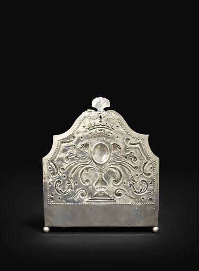 TRÈS IMPORTANTE LAMPE DE HANOUKKA EN ARGENT Amsterdam, 1730 Maître orfèvre : Johannes...