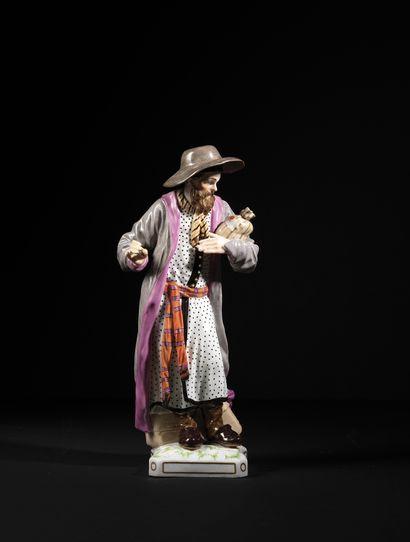 GRANDE FIGURINE EN PORCELAINE KPM Berlin, vers 1770 Cette figurine, intitulée «...