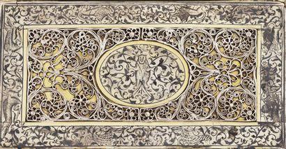 MAGNIFIQUE RELIURE EN ARGENT, VERMEIL ET NIELLAGE Galicie, 2e moitié du XVIIIe siècle...
