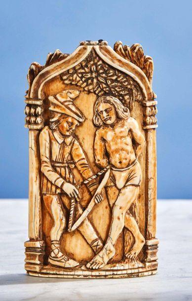 Baiser de Paix en ivoire sculpté à décor...