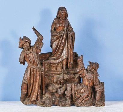 La Résurrection du Christ en chêne sculpté...