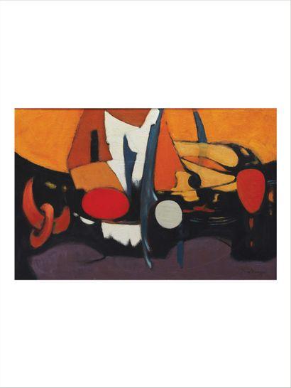 MARCEL VINTEVOGEL (1922-2000) Le voilier Huile sur panneau d'isorel. Signée en bas...