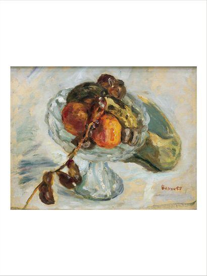 Pierre BONNARD (1867-1947) Le régime de dattes, 1912 Huile sur toile. Signée en bas...
