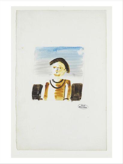 André DERAIN (1880-1954) Personnage Aquarelle et crayon sur papier. Deux cachets...