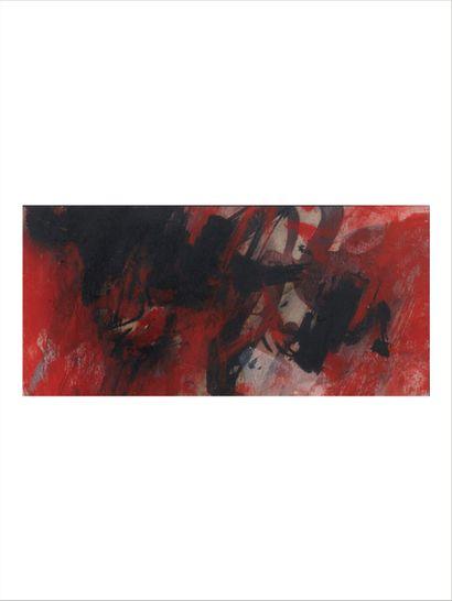 AFRO BASALDELLA (1912-1976) Untitled, 1959 Huile sur carton. Signée et datée en bas...