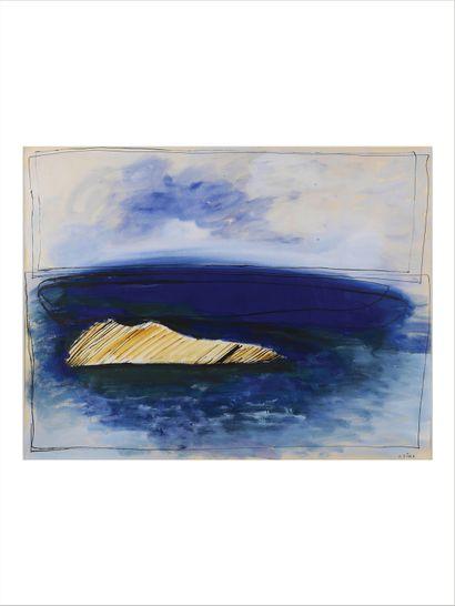 Josef SIMA (1891-1971) Sans titre Huile et encre sur papier. Signée en bas à droite....