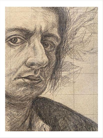 Giorgio De Chirico (1888-1978) Autoportrait à la tête de Mercure, 1923 Dessin à la...