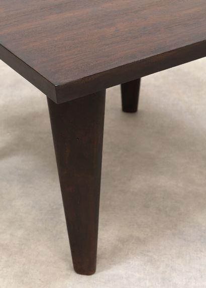 Pierre Jeanneret (1896-1967) Table dite «Square» Teck Teak Vers 1959-1960 H_70 cm...