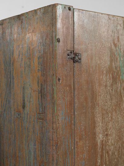 TRAVAIL SCANDINAVE (XIXE SIÈCLE) Cabinet Bois Wood Vers 1880 H_146,5 cm L_85,5 cm...
