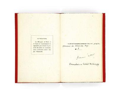 René CHAR. Hommage à D.A.F. de Sade. Paris, sans date [1931]. Plaquette petit in-8...