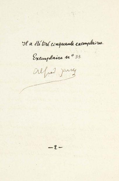 Alfred Jarry. Absolute Love. Novel. Without place or date [Paris, Mercure de France,...