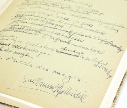 GUILLAUME APOLLINAIRE. A Ghost of Clouds. No place or date [1913]. Autograph manuscript...