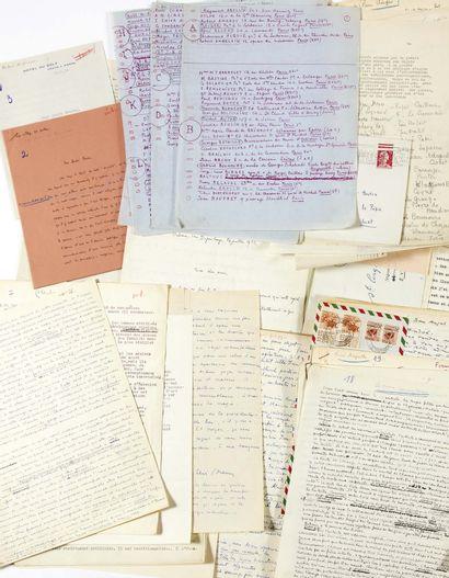 André BRETON. L'Art magique. Enquête. Juillet-octobre 1955. Dossier préparatoire...