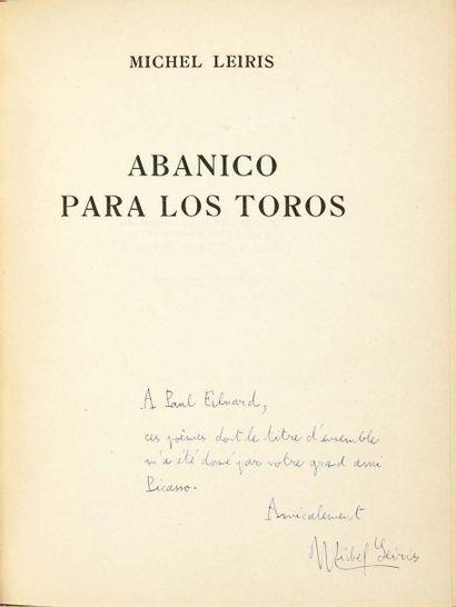 Michel LEIRIS. Abanico para los toros. Mesures, 15 October 1938. Small booklet in-4:...