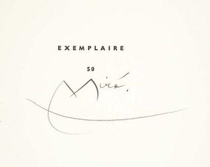 Joan MIRO. Le Lézard aux plumes d'or. Poème enluminé par l'auteur. Paris, Louis Broder,...