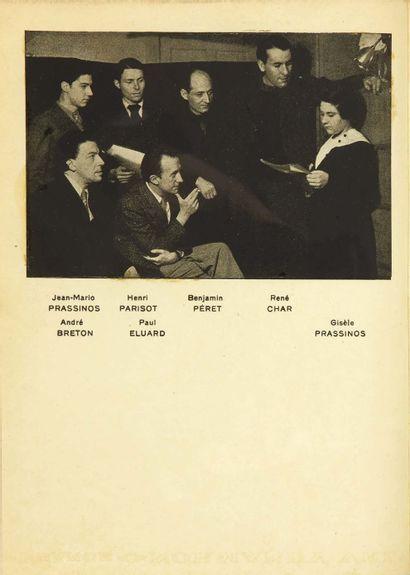 Gisèle PRASSINOS. La Sauterelle arthritique. With a preface by Paul Eluard and a...