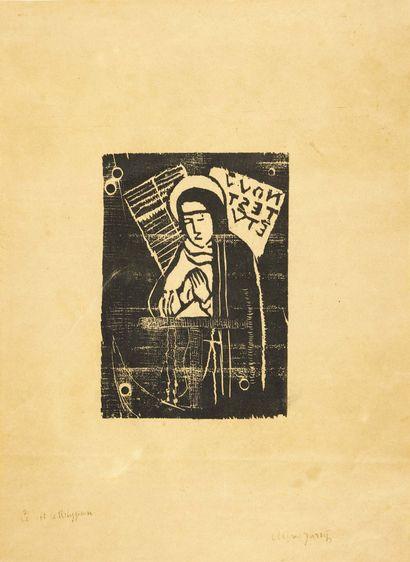 Alfred Jarry. La Relygieuse [sainte Gertrude]. Sans lieu ni date [Paris, 1895]. Bois...
