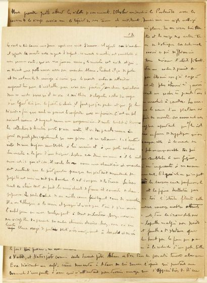 Benjamin PÉRET. No place or date [ca. 1924]. Signed autograph manuscript of 28 pages...