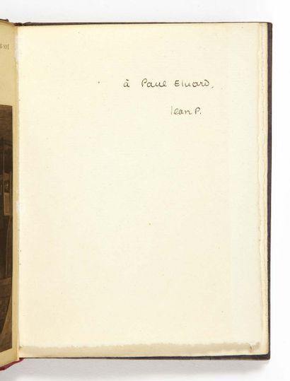 Jean PAULHAN. Le Pont traversé. Paris, Camille Bloch, 1921. In-16 : marbled paper...