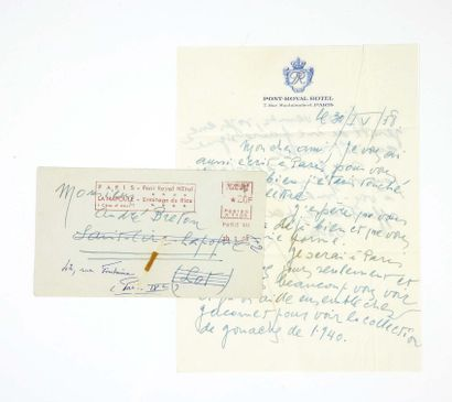André BRETON. La Clé des champs. Paris, Éditions du Sagittaire, 1953. Fort in-8 :...