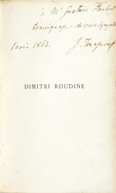 Ivan TOURGUÉNIEV. Dimitri Roudine. Suivi du Journal d'un homme de trop et de Trois...