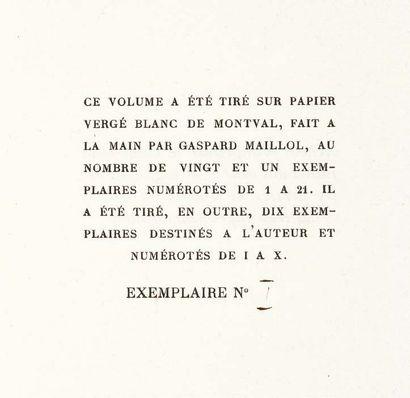 [JEAN COCTEAU]. Le Livre blanc. Paris, Imprimerie de Ducros et Colas, 1928. Petit...
