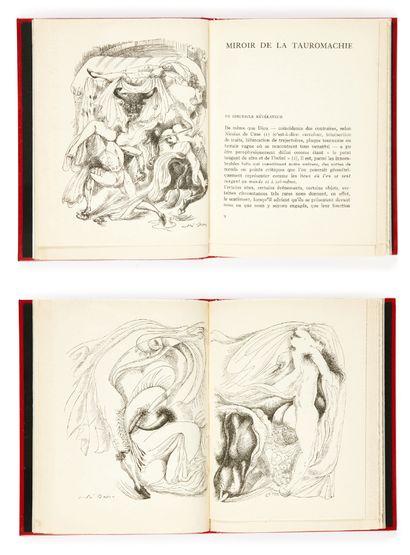 Michel LEIRIS. Miroir de la tauromachie. Avec 3 dessins de André Masson. Paris, GLM,...