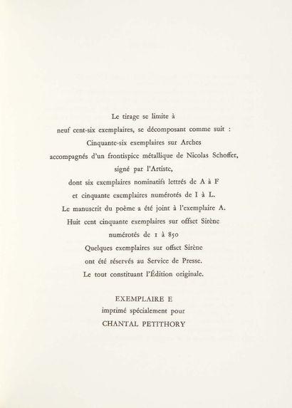 Pierre ALBERT-BIROT. Aux trente-deux vents. Poèmes des jours ombreux. Frontispice...
