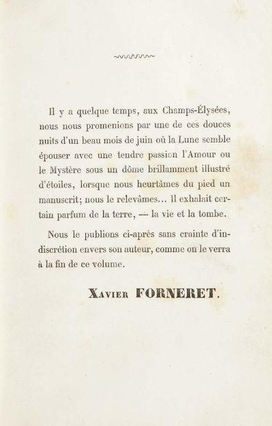 Xavier FORNERET. Caressa. Paris, Veuve Vincent et Bourselet, 1858. In-8 : chagrin...