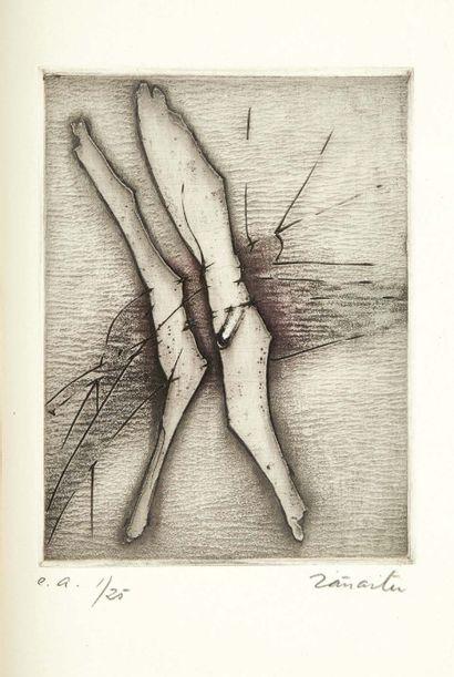 Octavio PAZ. Hommage et Profanations. Traduction de Carmen Figueroa. Trois gravures...