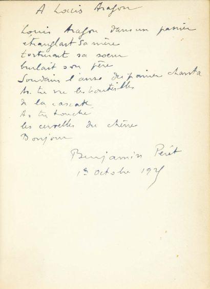 Benjamin PÉRET. Il était une boulangère... Paris, Éditions du Sagittaire, chez Simon...