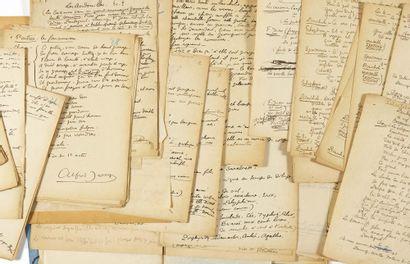 [Alfred JARRY]. Christian-Dietrich GRABBE. Les Silènes. [1900-1906]. Fragment de...