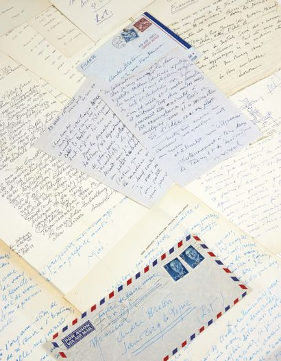 [André Breton]. Lettres des peintres et artistes sollicités pour l'exposition EROS...