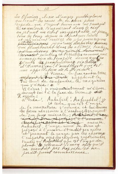 Guillaume APOLLINAIRE. Simon Mage. Sans lieu ni date [1910]. Manuscrit autographe...