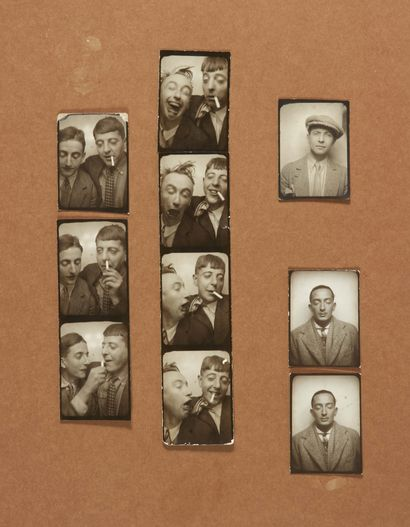 PHOTOMATONS]. 23 original photomatons. No place or date [ca. 1929]. Collection of...