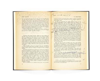 HENRI MICHAUX. La Psilocybine. (Expériences et autocritique). Paris, Les Lettres...