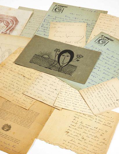 Remy de GOURMONT. Correspondance adressée à Alfred Jarry. Automne 1894-printemps...
