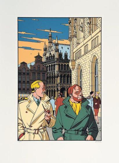 ANDRE JUILLARD (1948) Coffret boite N°1 Juillard Boîte et couvercle sérigraphiés....
