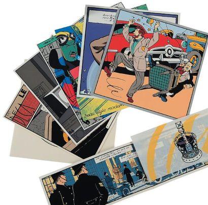 EDGAR P.JACOBS (1904-1987) Coffret cartes de voeux Archives Série de 25 cartes de...
