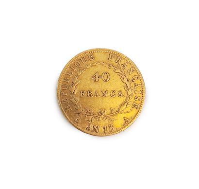 1 pièce de 40 francs or à l'effigie de Napoléon...