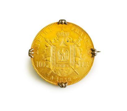 Pièce de 100 francs or à l'effigie de Napoléon...