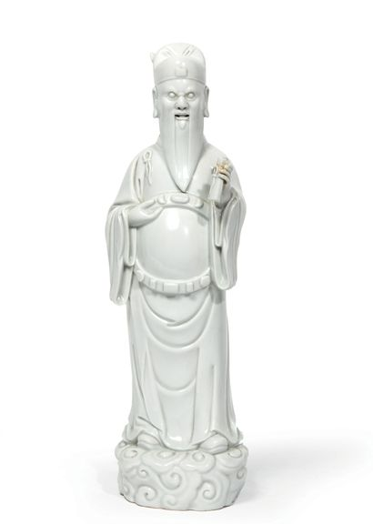 Statuette en porcelaine blanche, l'immortel...